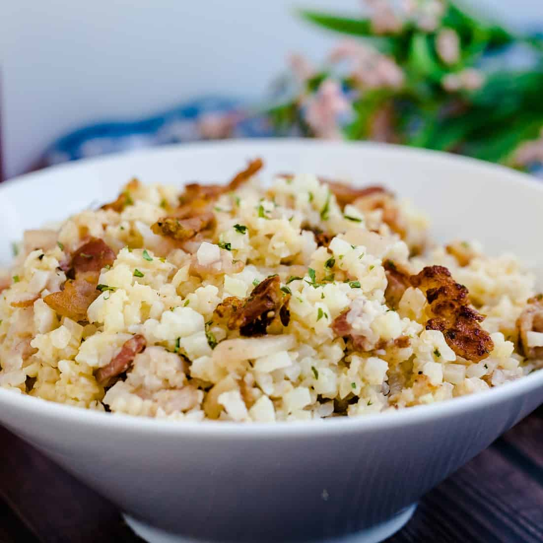 Keto Low Carb Bacon Risotto LowCarbingAsian Pic 2