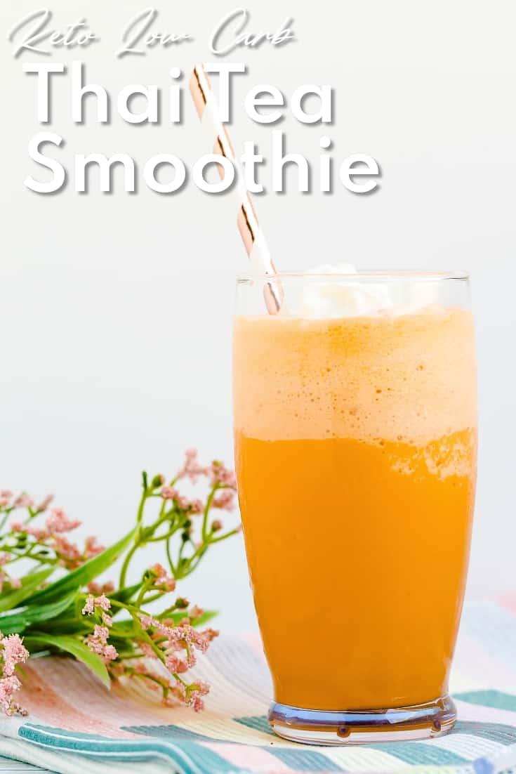 Keto Low Carb Thai Tea Smoothie