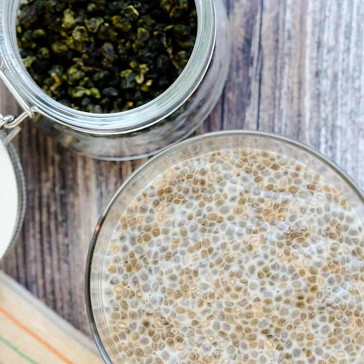 Milk Tea Chia Seed Pudding LowCarbingAsian Pic 1