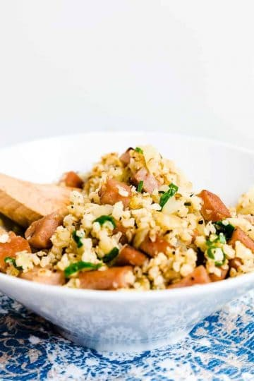 Spam Cauliflower Fried Rice LowCarbingAsian Cover 2