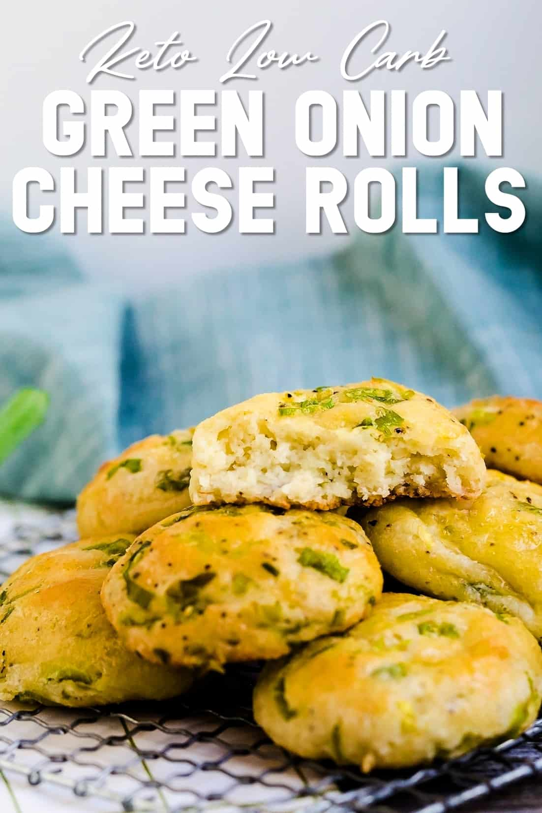 Keto Low Carb Green Onion Cheese Rolls