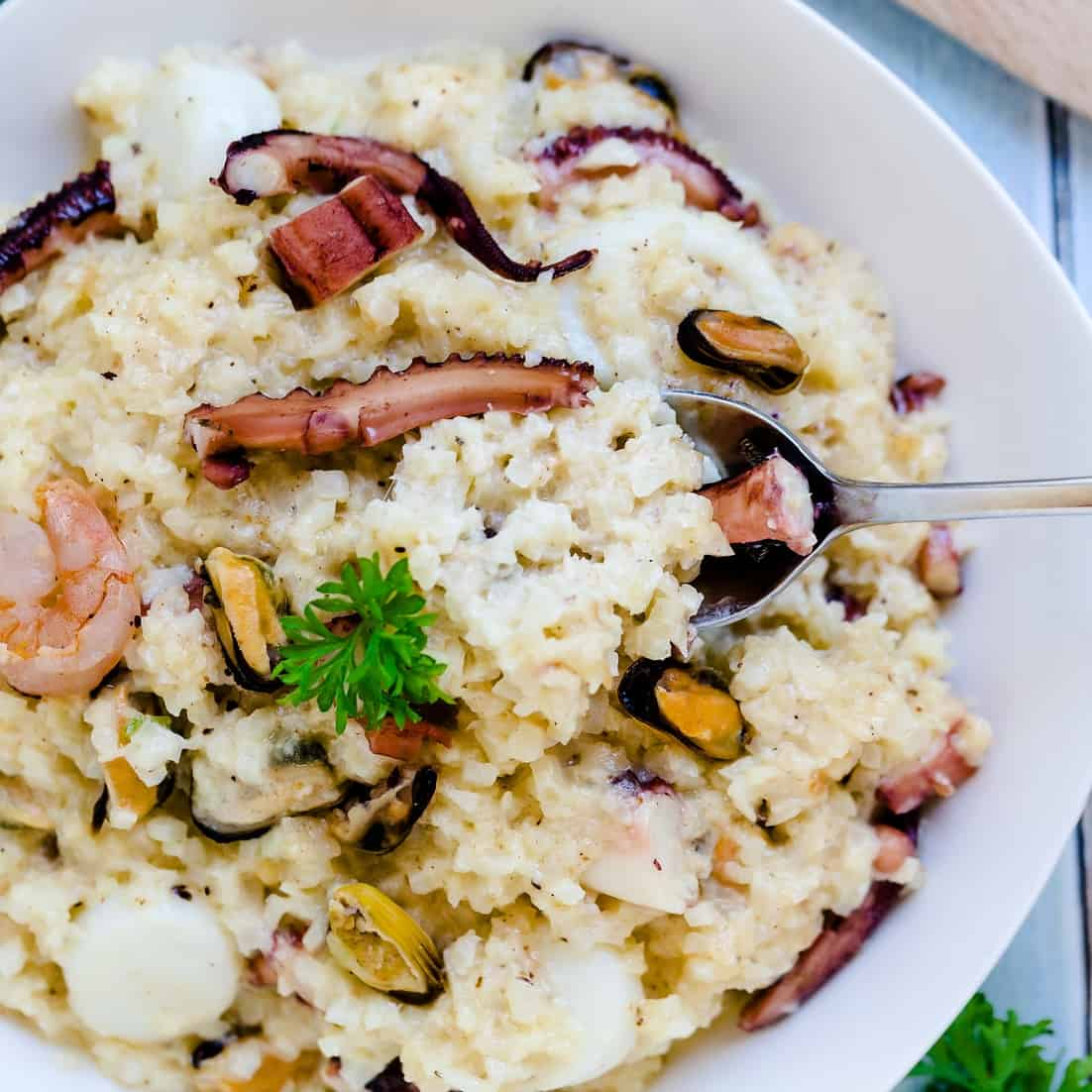 Keto Low Carb Seafood Risotto LowCarbingAsian Pic 2