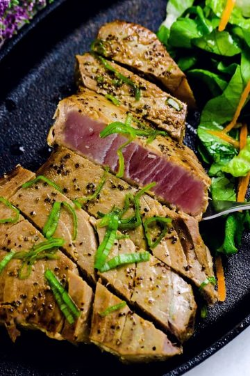 Pan Seared Ahi Tuna LowCarbingAsian Cover