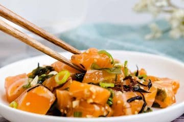 Salmon Poke LowCarbingAsian Cover