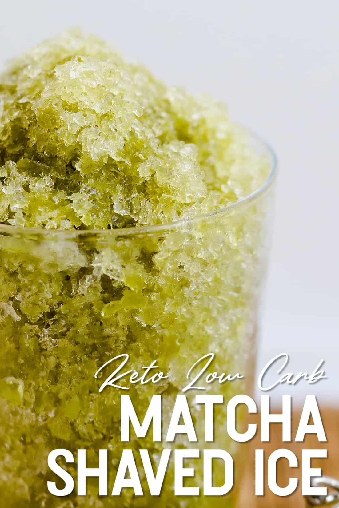 Keto Low Carb Matcha Shaved Ice