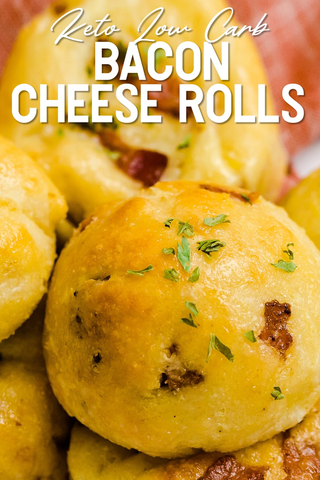Bacon Cheese Rolls Close up