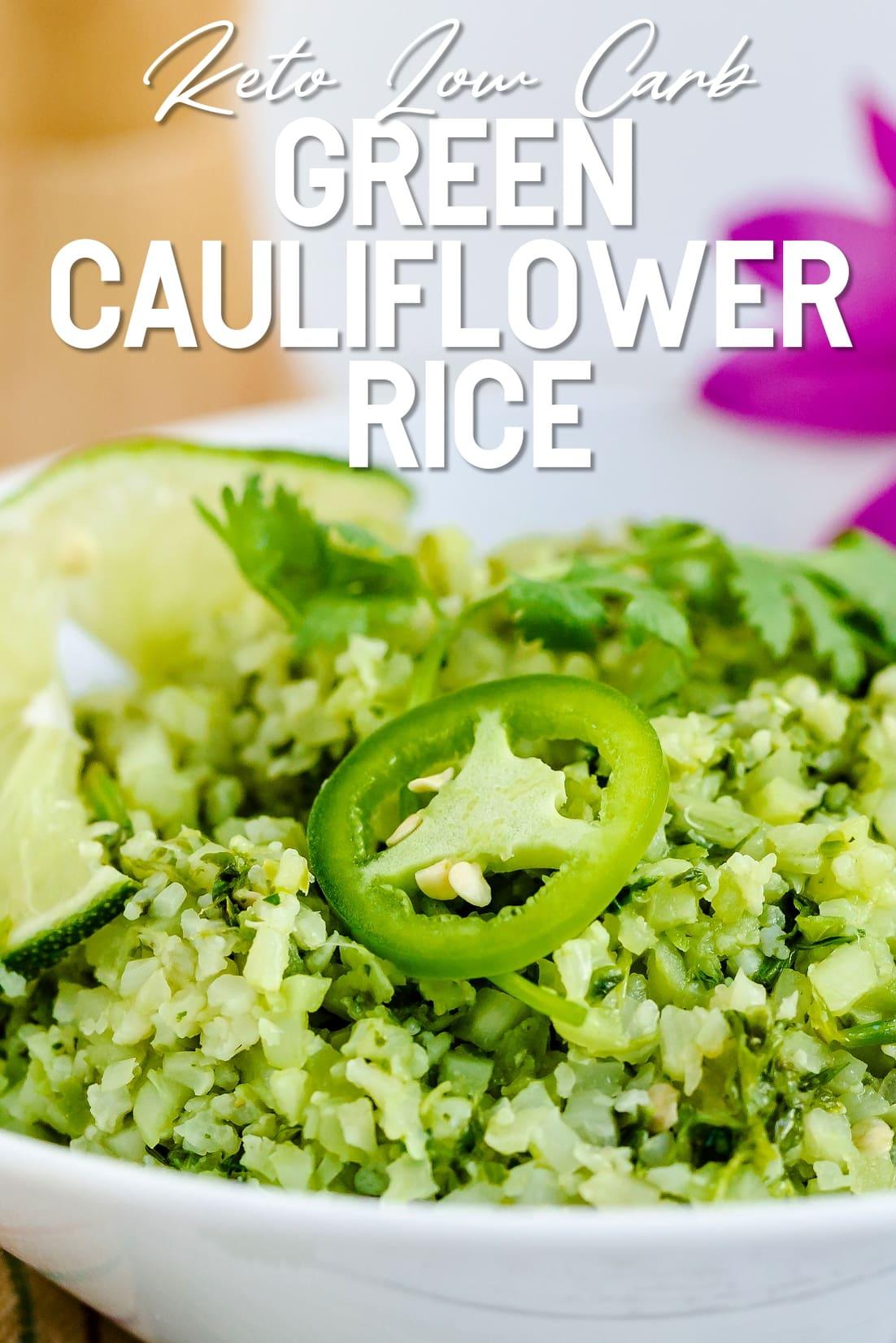 Green Cauliflower Rice Close Up