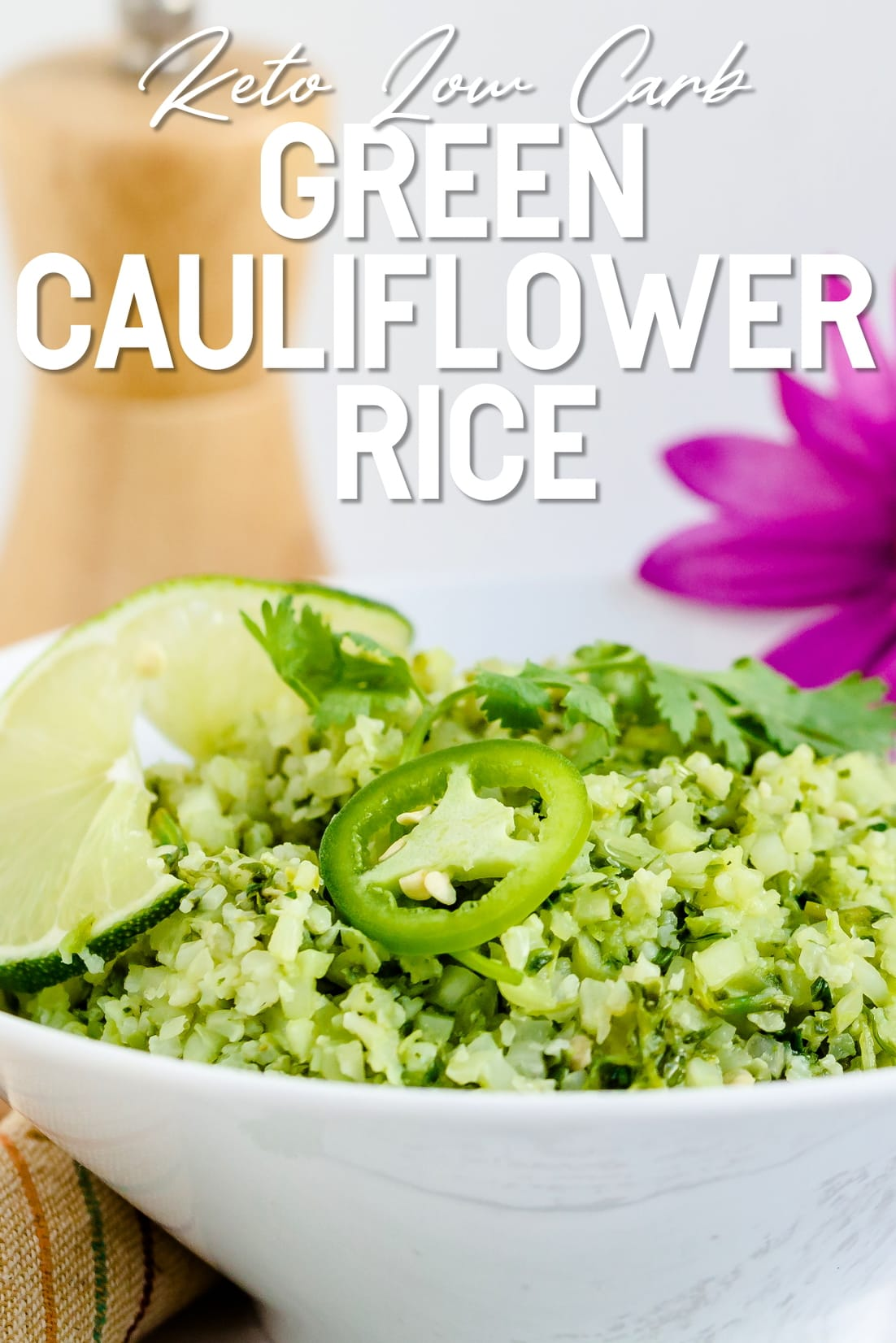 Green Cauliflower Rice Close Up