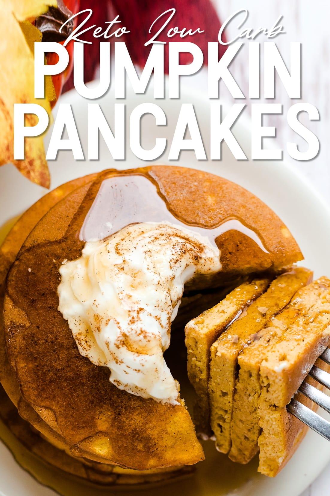 Pumpkin Pancake with a fork