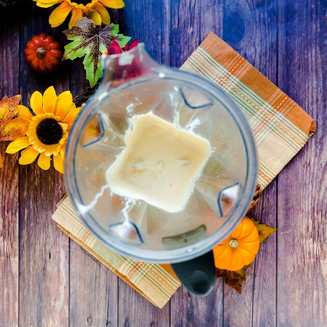 Pumpkin Cream inside a blender