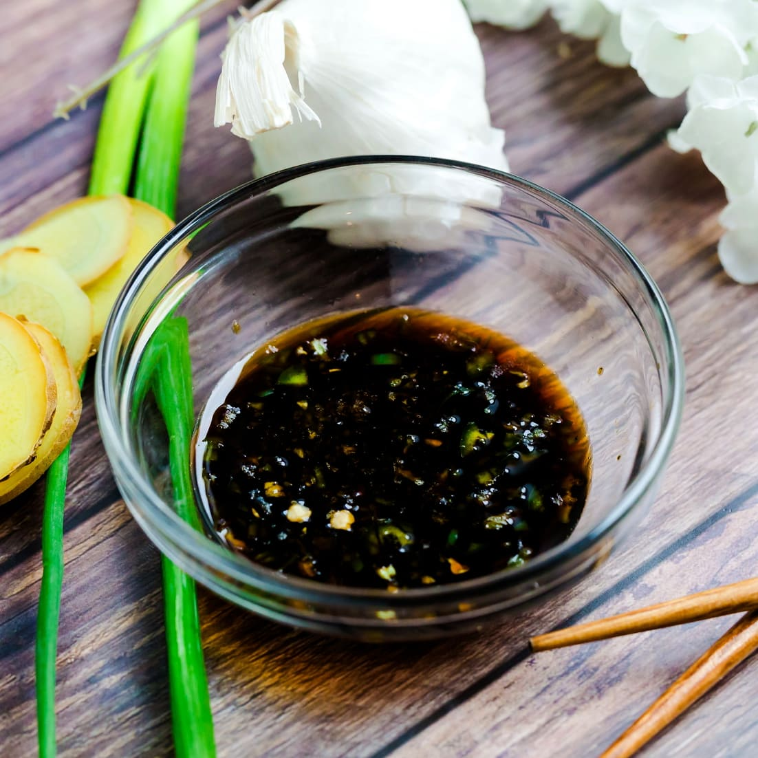Soy Garlic dipping sauce for boiled pork belly