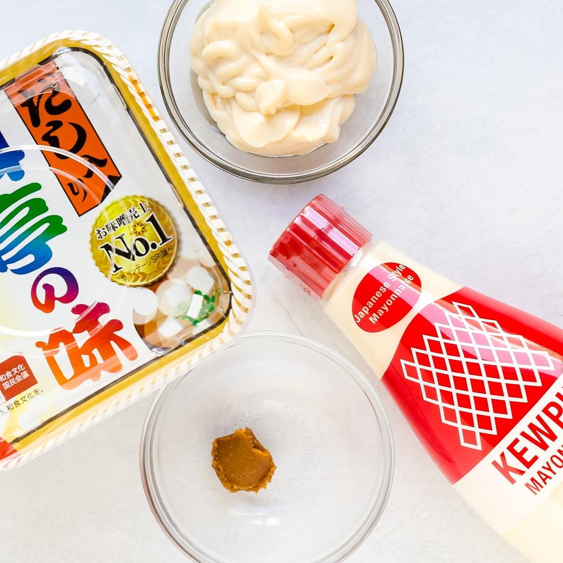 Brown miso and Japanese Kewpie mayo